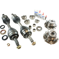 Front CV Drive Shafts, Front Wheel Bearings & Differential Diff Rebuild Kit for Toyota Hilux GGN25R 1GRFE 4.0L 3/2005 - 1/2014
