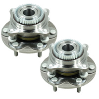 Two (2) Front Wheel Bearing Complete Hub Assemblies For Toyota Hilux Kun26R Ggn25R 2005-2015