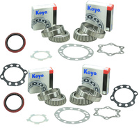 Two Koyo Front Wheel Bearing Kits For Toyota Hilux LN167R LN172R VZN167R 4WD With IFS