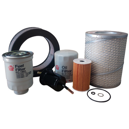 Oil Air Fuel Filter Service Kit For Great Wall Sa220 491Qe 2009-2013